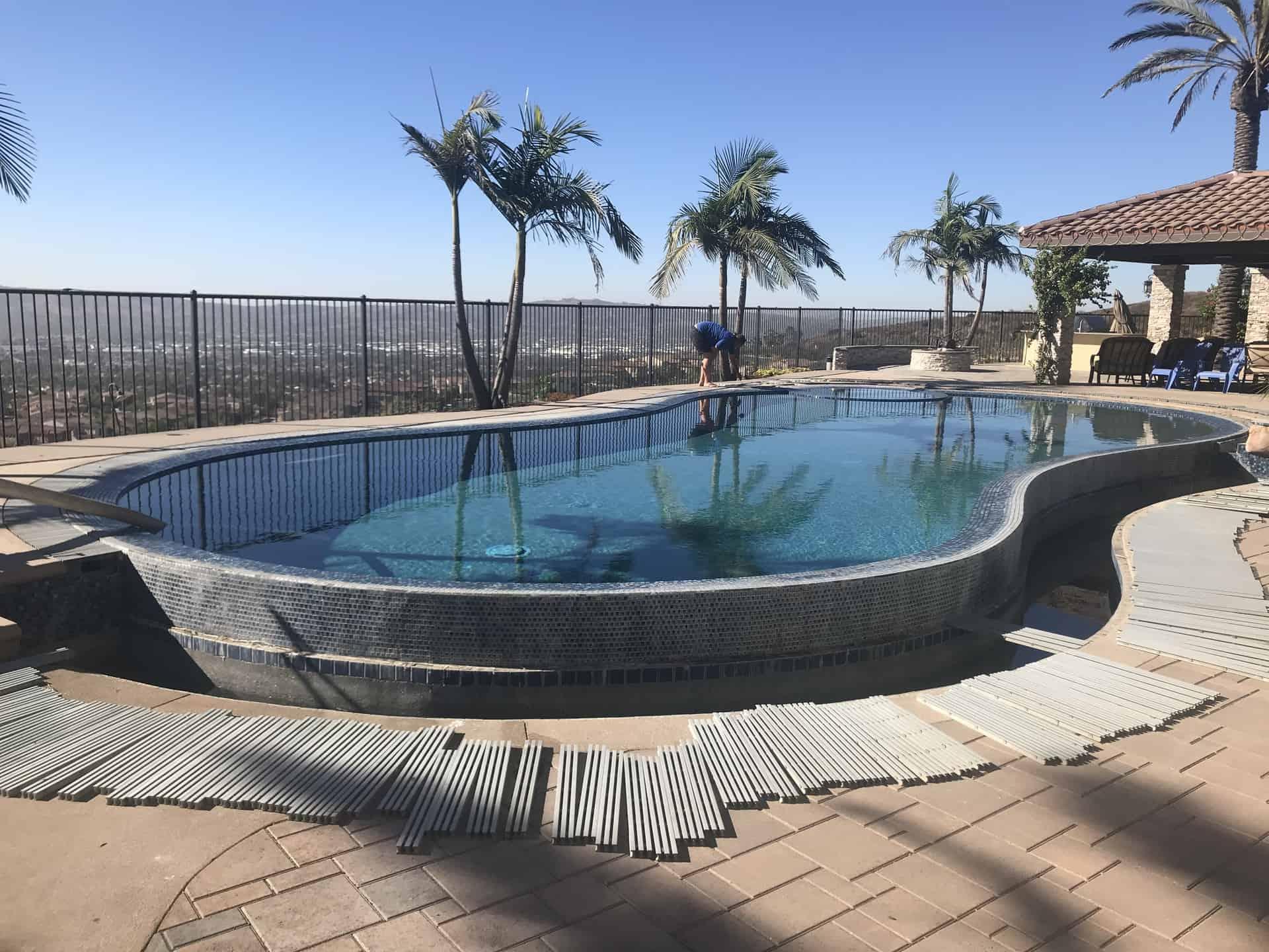 Pool tile cleaning calif pool heaven inc expert pool - Swimming pool tile cleaning machine ...